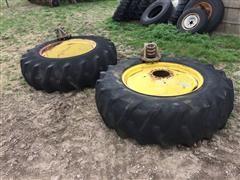 John Deere Axle-Mount Dual 18.4-34 Tires & Rims