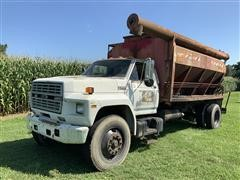 1990 Ford F800 S/A Bulk Feed Delivery Truck