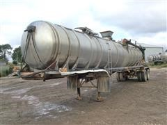 1982 Trailmobile T/A Stainless Steel Manure Tanker