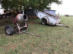 Portable Cement Mixer & Pickup Box Trailer