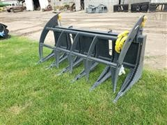 """2020 Mid-State 67"""" Wide Heavy Duty Brush Grapple Skid Steer Attachment"""
