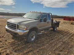 2003 Ford F350 Lariat 4x4 Extended Cab Flatbed Pickup