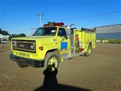 1980 Chevrolet C60 S/A Fire Pumper Truck