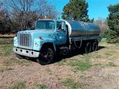 1980 Ford 8000 T/A Liquid Fertilizer Tender Truck