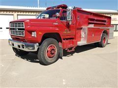 1991 Ford F800 Fire Truck