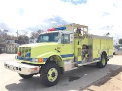 1992 International 4800 4X4 Truck W/Smeal Structural Fire Bed