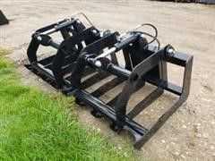 "2019 Brute 70"" Wide Root Grapple Skid Steer Attachment"