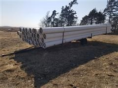 "Diamond 10"" PVC Gated Pipe/Pipe Trailer"