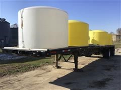 2008 Manac 45' T/A Flatbed Trailer W/Tanks