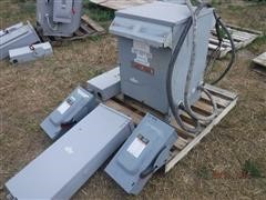 Square D Sorgel Dry Type Single Phase Transformer W/Panel & Switches