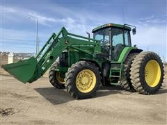 1998 John Deere 7810 MFWD Tractor W/JD 740 Classic Loader