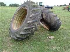 Dual 18.4 R 38 Tractor Tires And Rims
