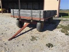 Flatbed Wagon W/Hoist And Sides