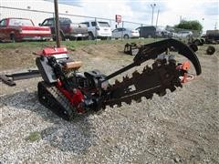 Barreto 2324TK Stand On Rubber Track Trencher