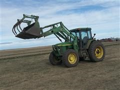 1997 John Deere 7410 Tractor And Loader