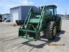 1999 John Deere 7410 MFWD Tractor W/740 Front Loader