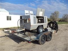 1995 Superior Tandem Axle Trailer With Sand Blasting Setup Mounted