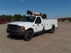 2001 Ford F550 Super Duty 2WD Service Truck & Hoist