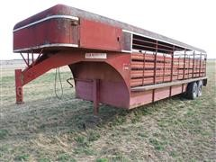 1978 Hanover 24' T/A Livestock Trailer