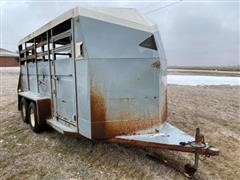 1983 Hillsboro T/A Livestock Trailer