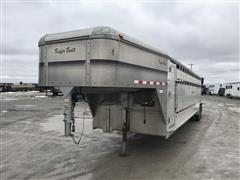 2004 Kiefer Built 7'x30' T/A Aluminum Livestock Trailer