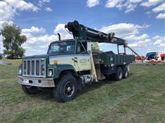 1989 International 2554 T/A Boom Truck