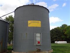 MFS 21' 8 Ring Grain Bin W/Y Aeration Floor