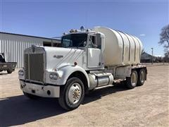 1979 Kenworth W900A T/A Water Truck W/Poly Tank
