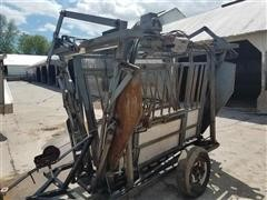 Self Contained Hydraulic Head Gate W/Neck Extender And Scale