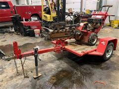 2013 Barreto 912 Self-Propelled Trencher & Tilt Trailer