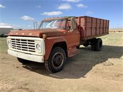 1973 Ford F600 S/A Dump Truck