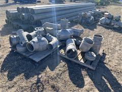 Assorted Aluminum/Galvanized Irrigation Pipe Fittings