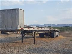 1989 East T/A Aluminum Flatbed Trailer