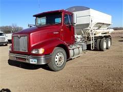 1998 International 9200 T/A Tender Truck W/Willmar 16 Ton Side Shooter