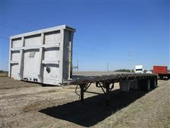 1992 East 285 T/A Flatbed Trailer