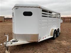 2011 S&H Riata T/A 18' 3-Horse Slant Trailer
