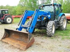 2008 New Holland T6030 Plus MFWD Tractor w/ 840TL Loader