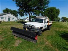 2001 Dodge Ram 3500 Pickup W/Snow Plow/Dump Box & Salt Spreader