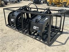 "2019 TMG 84"" Grapple Bucket Skid Steer Attachment"