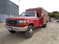 1997 Ford F Super Duty Service/Utility Pickup Truck 11' Enclosed Box
