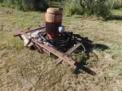 US Electric Motor Driven Tail Water Pit Pump