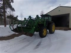 1989 John Deere 2955 MFWD Tractor With Loader And Grapple