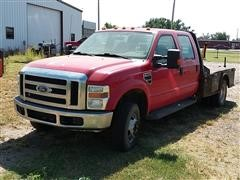 2008 Ford F350 Super Duty 4X4 Dually Flatbed Pickup