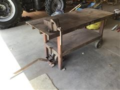 Shop Built Steel Work Bench