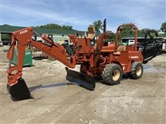 2000 DitchWitch 5110 4WD Trencher Backhoe & Backfill Blade