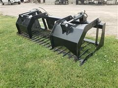 "2020 Brute 84"" Wide Rock/Brush Grapple Skid Steer Attachment"
