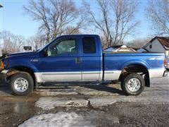 1999 Ford F250 XLT Super Duty Pickup, 4x4