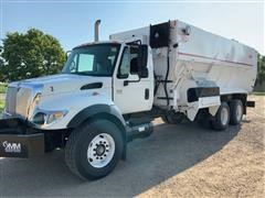 2007 International 7400 SBA 6x4 Feed Truck W/Harsh 900 Mixer