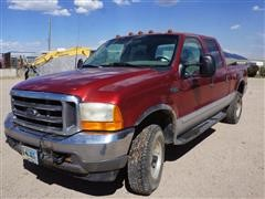 2001 Ford F350 4x4 Crew Cab Short Bed Pickup