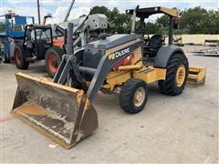 2013 John Deere 210K MFWD Tractor W/Box Blade & Loader Bucket